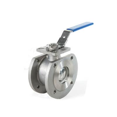 Kompaktkulventil i syrafast stål för inspänning.